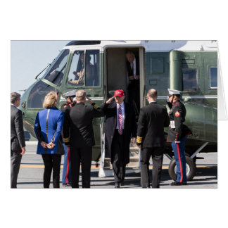 President Donald Trump Exits Marine One Card