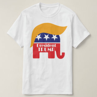 President Donald Trump - GOP Elephant Hair Logo T-Shirt
