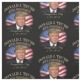 President Donald Trump Inauguration Commemorative Fabric