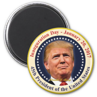 President Donald Trump Inauguration Day Souvenir Magnet