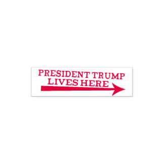 President Donald Trump Lives Here Troll Stamp