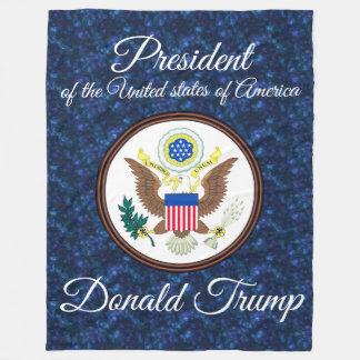 """President Donald Trump"" & Presidential Seal Fleece Blanket"