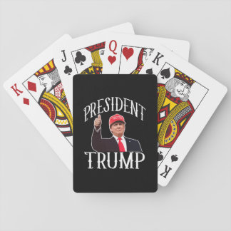 President Donald Trump Red Hat Thumbs Up Playing Cards