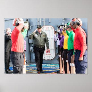 President Donald Trump Salutes Sailors Poster