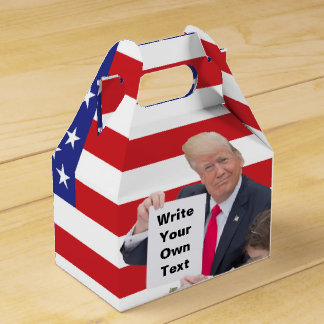 President Donald Trump - Write Your Own Text Favor Box