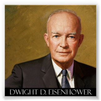 President Dwight D. Eisenhower Fine Art On Canvas Poster