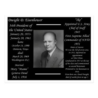 President Dwight Eisenhower Postcard