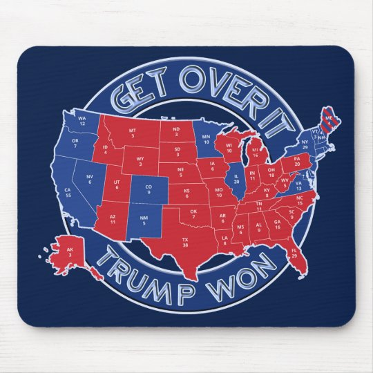 President Elect Trump Won Red White Blue Mousepad