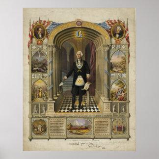 President George Washington as a Freemason Poster