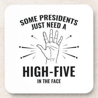 President High-Five Face Coaster