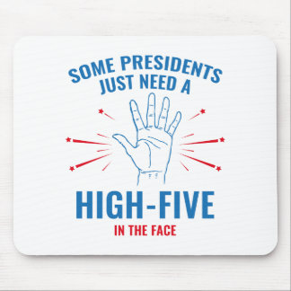 President High-Five Face Mouse Pad