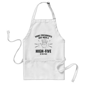President High-Five Face Standard Apron
