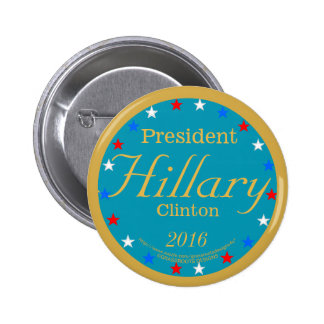 President Hillary Clinton 2016 Take Action Blue 2 Inch Round Button