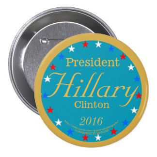 President Hillary Clinton 2016 Take Action Blue 3 Inch Round Button
