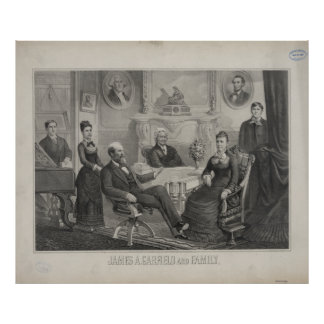PRESIDENT JAMES ABRAM GARFIELD and family Poster