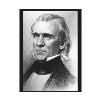 President James K. Polk, c_America Grows_Image Canvas Print