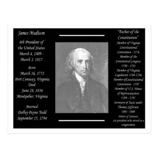 President James Madison Postcard
