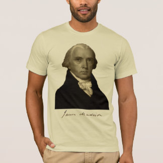 president james madison with signature T-Shirt