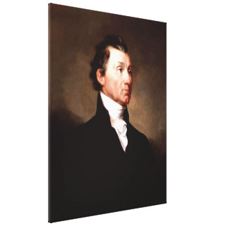 President JAMES MONROE Portrait by Samuel Morse Canvas Print