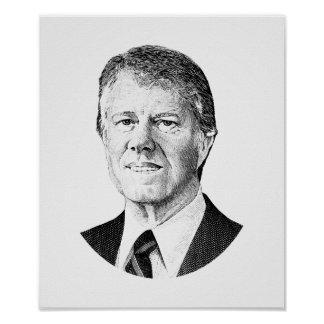President Jimmy Carter Graphic Poster