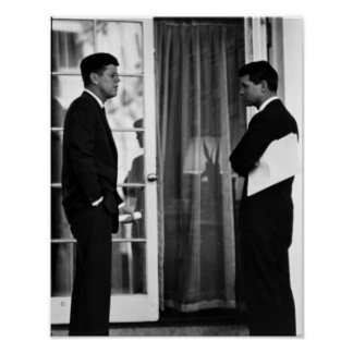 President John Kennedy And Robert Kennedy Poster
