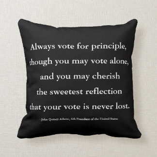 President John Quincy Adams Quote on Voting Throw Pillow