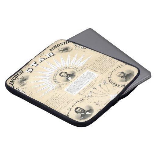 President Lincoln Acrostic Star 1864 Laptop Sleeves