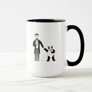 President Lincoln and a Panda Enjoy Ice Cream Mug