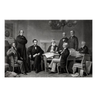 President Lincoln and His Cabinet Poster