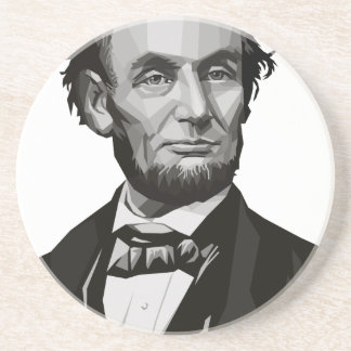 President Lincoln Beverage Coaster