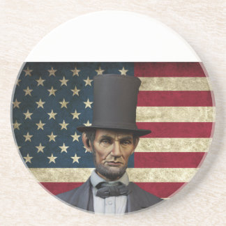 president lincoln beverage coasters