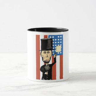 President Lincoln Black 11 oz Combo Mug