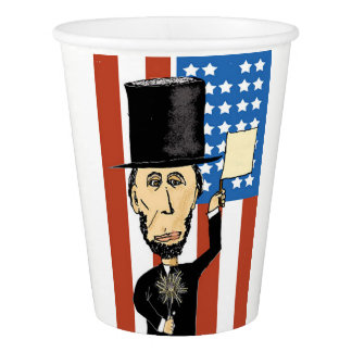 President Lincoln Custom Paper Cup, 9 oz Paper Cup