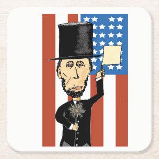President Lincoln Custom Square Coasters