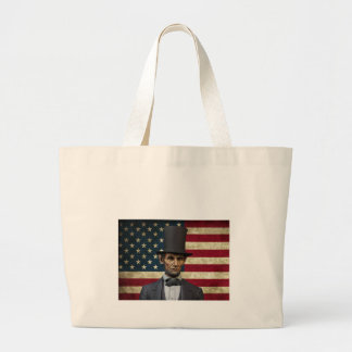 president lincoln large tote bag