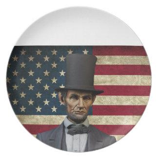 president lincoln plate