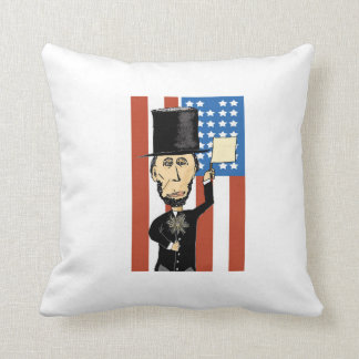 President Lincoln Polyester Throw Pillow
