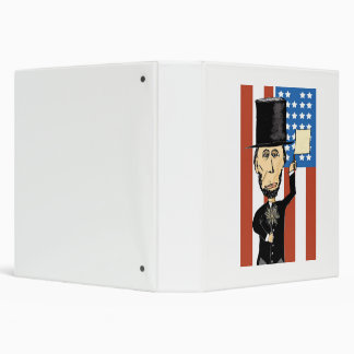 "President Lincoln White EZD™ Ring Avery "" Binder"