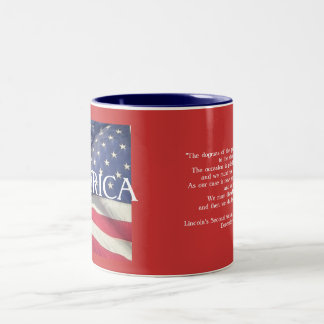 President Lincoln's Message to Congress Two-Tone Coffee Mug