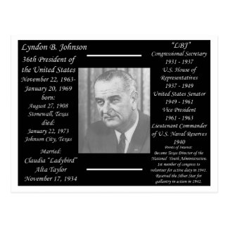 President Lyndon Johnson Postcard