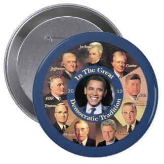 President Obama 2012 4 Inch Round Button