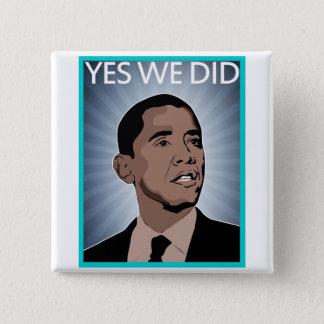 President Obama 2 Inch Square Button