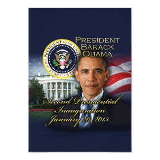 President Obama 2nd Inauguration Card