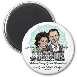 President Obama and First Lady Gear Magnet