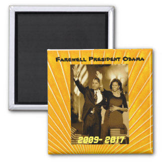 President Obama and First Lady Michelle Obama Square Magnet