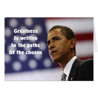President Obama confidence greeting cards