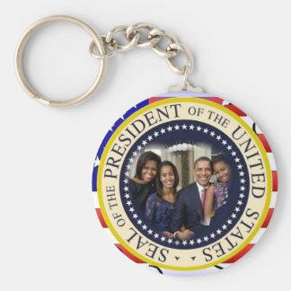 President Obama First Family Keepsake Keychain