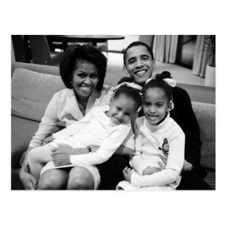 President Obama First Family Postcard