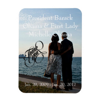 President Obama & First Lady Michelle Thank You Rectangular Photo Magnet