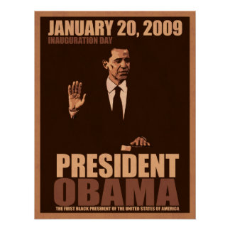 President Obama Inauguration Canvas Poster